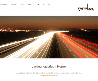 Website Relaunch der vardea logistics Spedition in Bremen